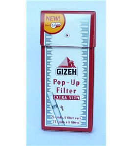 Gizeh Filter Tips Pop-up Extra Slim 5.3mm
