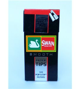 Swan Extra Slim Smooth Charcoal Filter Tips