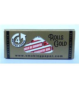 ROLL Smoking Deluxe Rolling Paper Gold