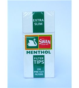 Swan Filter Tips Extra Slim Menthol Filters